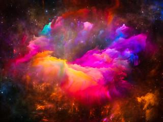 Panel Szklany Współczesny Glow of Interstellar Clouds
