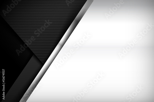 Fotografia, Obraz  Chrome black and grey background texture vector illustration 018