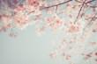 Leinwandbild Motiv Beautiful vintage sakura tree flower (cherry blossom) in spring. retro color tone style.