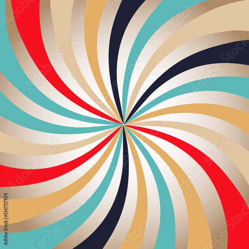 Photo  Retro Backgrounds with strips - vector illustration