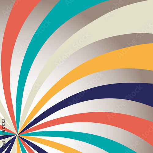 Retro Backgrounds with strips - vector illustration Wallpaper Mural