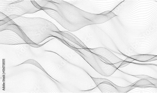 Obraz Abstract waves - - vector illustration  - fototapety do salonu