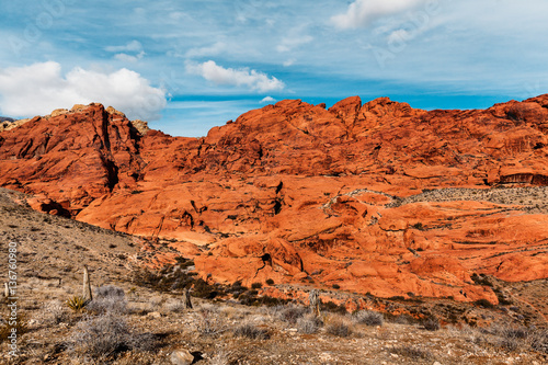 Foto op Canvas Baksteen Scenic Landscape of Red Rocks at Red Rock Canyon, southern Nevada, USA