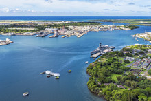 Aerial View Of USS Arizona And...