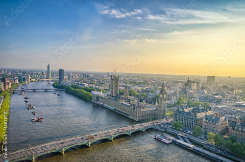 The view from London Eye Wallpaper Mural