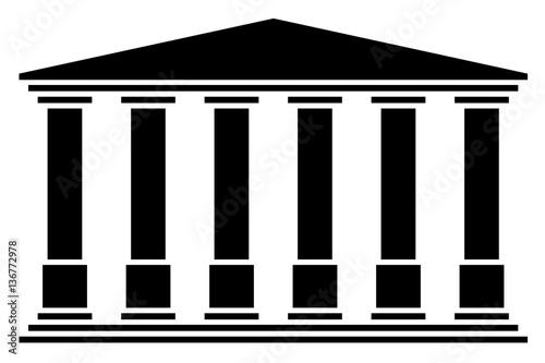 Temple 6 colonnes Fotobehang
