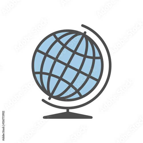 Isolated globe icon on white background  Concept of logistic