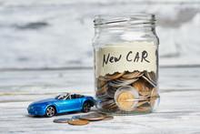 Toy Car, Money And Card. Savin...
