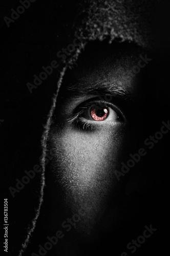 Fotografía  Eye of spooky man