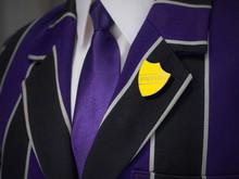 School Boys Blazer With Yellow...