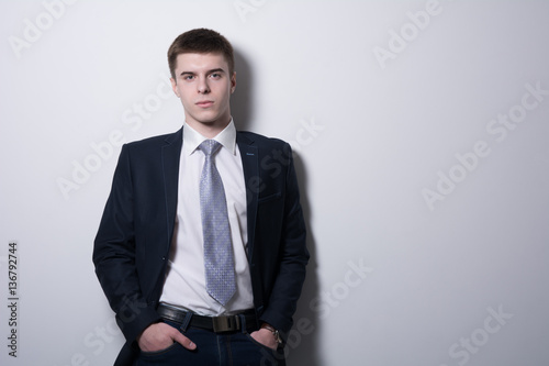 Fotografie, Obraz  Successful businessman with hands in pockets,