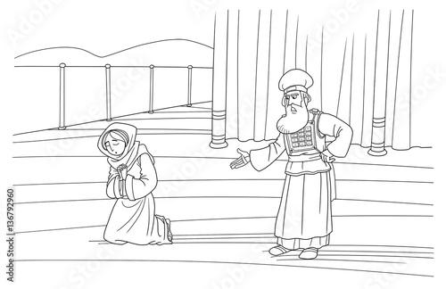 The priest Eli rebukes Hannah during her prayer Tapéta, Fotótapéta