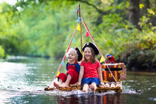 Kids Playing Pirate Adventure ...
