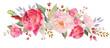 Leinwanddruck Bild - Watercolor floral composition