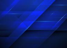 Abstract Dark Blue Background. Technology Concept Design.