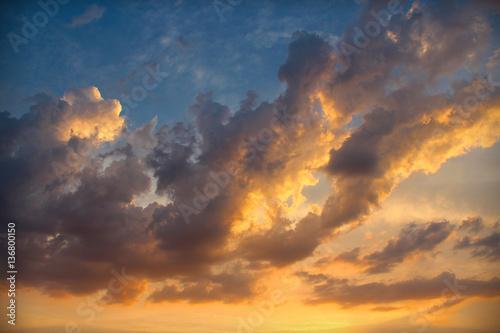 Foto  bunte Wolke