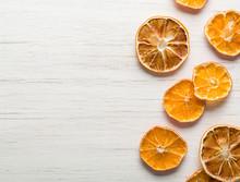 Dried Orange Slices Arranged