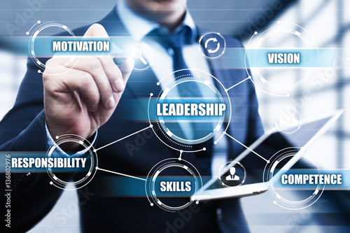 Fotografiet  Leadership Business Management Teamwork Motivation Skills concept