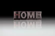 Home, Antieke Metalen Letters