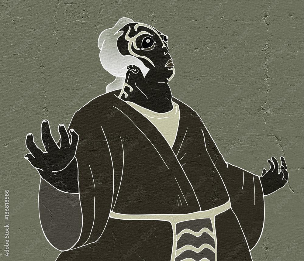 kabuki theater character draw