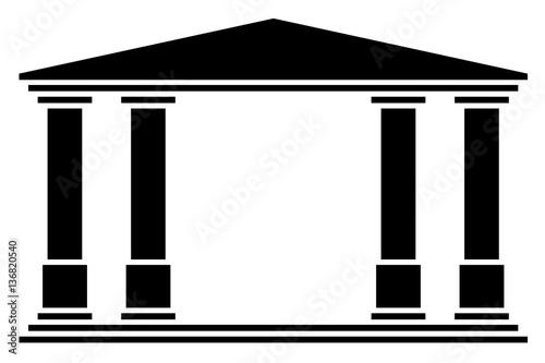 Slika na platnu Temple 4 colonnes