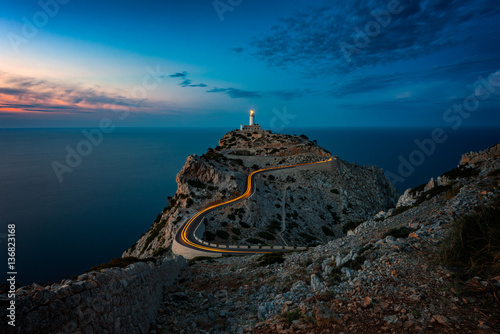 Photo Lighthouse at Cap Formentor Mallorca at dusk