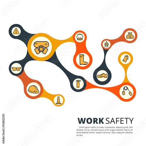 Safety First Growth Abstract Background Circles Integrate Flat
