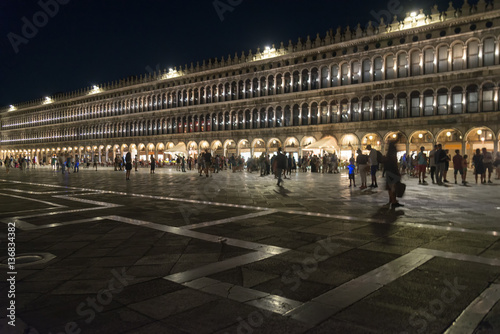 Piazza San Marco at night, Venice Poster