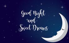 Good Night Illustration Vector Design