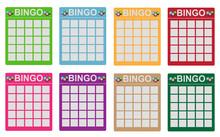 Bingo Tickets In Various Colors