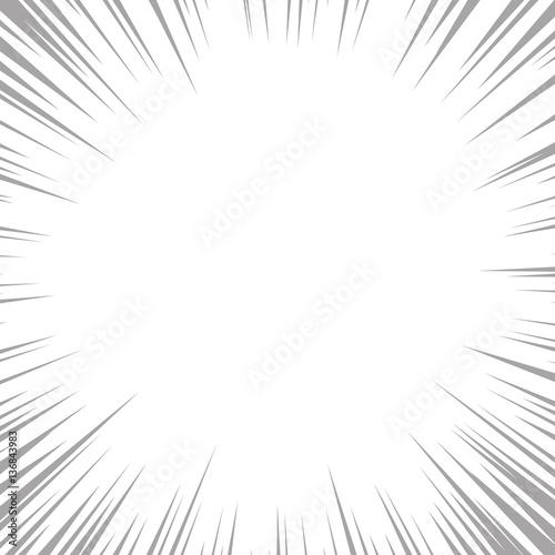 Fototapeta Black sunburst texture on white background. Vector illustration. obraz na płótnie