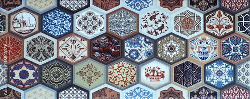 Zdjęcie XXL mozaika, geometria abstrakcyjna, kafelki tekstury