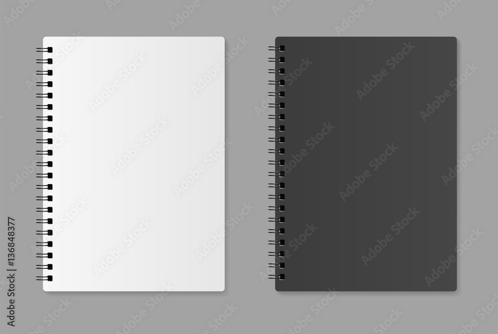 Fototapeta Realistic blank notebook - stock vector.