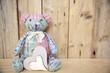 Grußkarte - Teddy mit Herz
