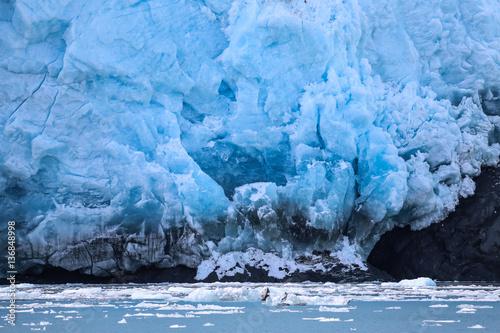 Fotobehang Gletsjers Close up Aialik Glacier, Kenai Fjords National Park, Alaska