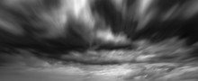 Dramatic Thunderstorm Clouds Background At Long Exposure