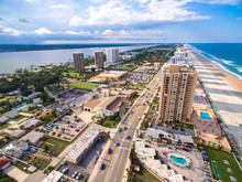 Daytona Beach Skyline Aerial View
