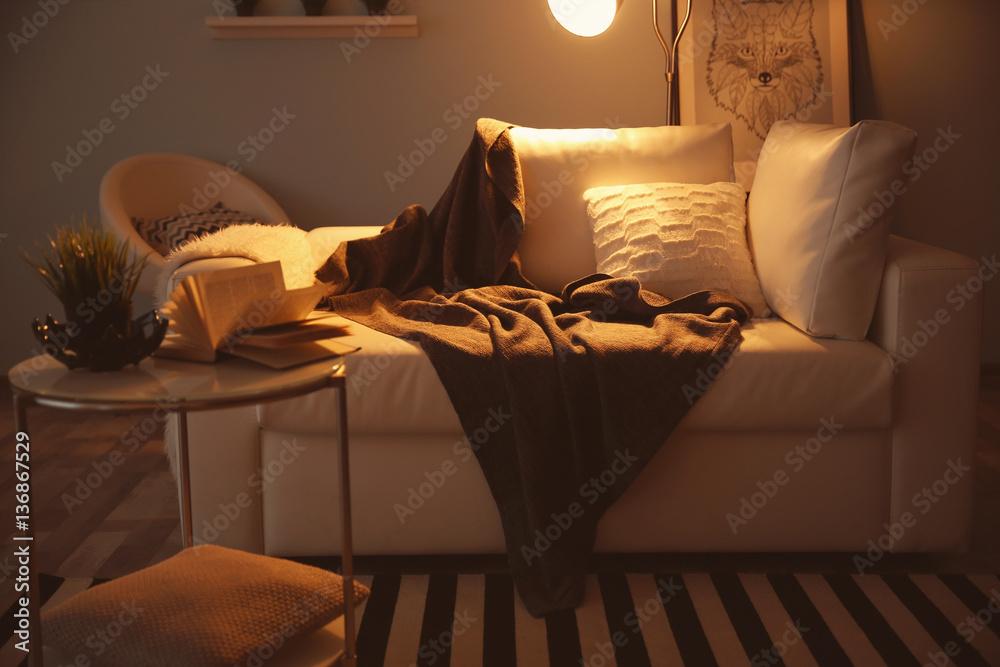 Fototapety, obrazy: Interior of beautiful modern living room