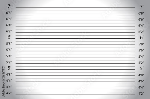 Fotografía  Vector of white grey wall, with Police Lineup Background