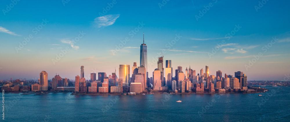 Fototapeta Manhattan Downtown Panorama