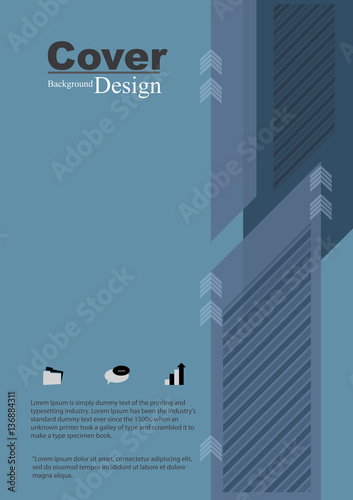 Photo  Book Cover with Business Abstract Concept Template