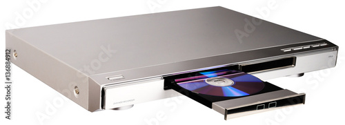Fotomural  DVD player with open tray