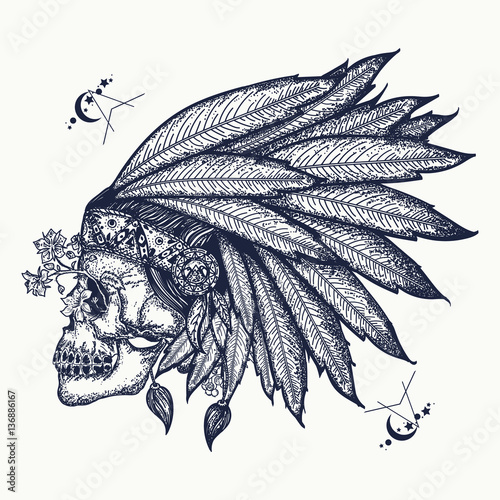Indian Skull Tattoo Art Warrior Symbol Native American Buy This Stock Vector And Explore Similar Vectors At Adobe Stock Adobe Stock Tattoos and tattoo art is dedicated to bringing the you the best tattoos from around the world. indian skull tattoo art warrior symbol