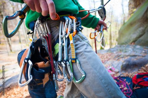 In de dag Alpinisme Climber partner insures.