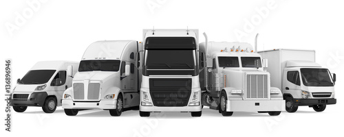 Fleet of Freight Transportation Wallpaper Mural