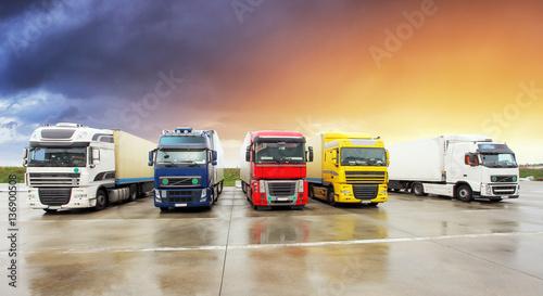 Fototapeta Ciężarówka, Transport towarowy