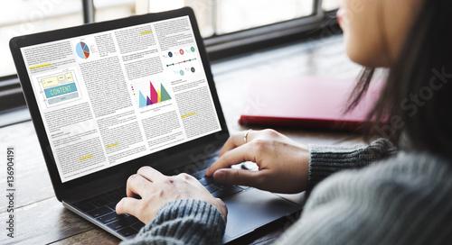 Article Business Information Vision Concept Canvas Print