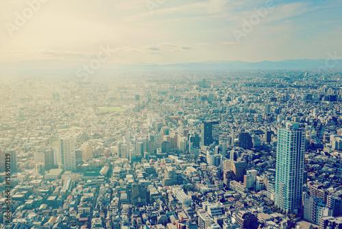 Ingelijste posters Tokio 東京、新宿、俯瞰