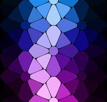 Vector Dark Blue Purple Stained Glass Background