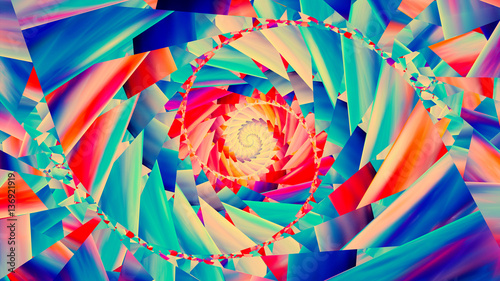 Colorful trendy spiral background